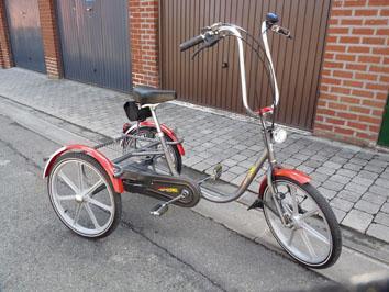 Petite annonce 113477 :  tricycle orthop�dique 20 pouces , 3 vitesses , pignon libre